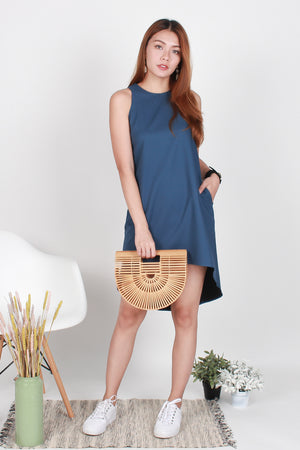 Perry Diphem Tank Dress In Blue
