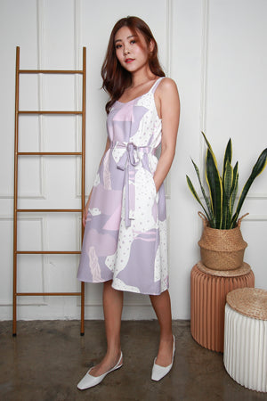 Costa Rica Strappy Dress In Lilac