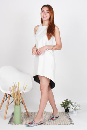 Perry Diphem Tank Dress In Ecru