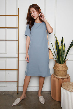 *TSA Label* Yander Midi Dress In Ash Blue