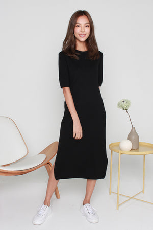 *BACKORDER* Kennedy Basic Knit Dress In Black