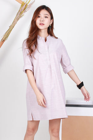 *TSA Label* Mathilda Shirt Dress In Pink