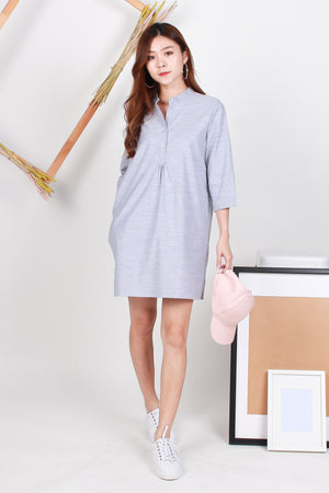 *TSA Label* Mathilda Shirt Dress In Blue