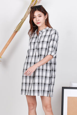 *TSA Label* Mathilda Shirt Dress In Plaids