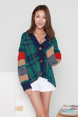 *RESTOCK II* Garland Knit Cardigan In Green