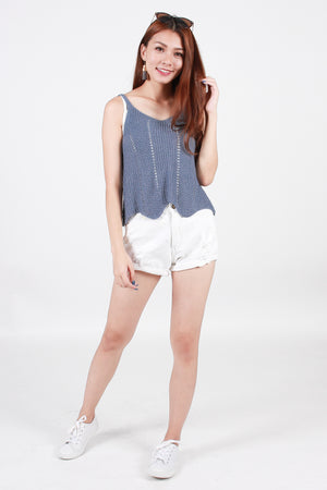 Cyndi Knit Top In Powder Blue
