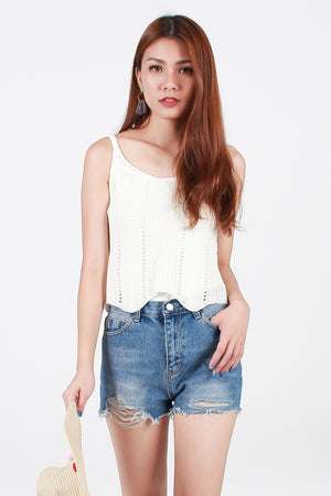 Cyndi Knit Top In White