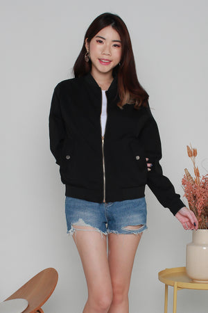 *BACKORDER* Canfield Bomber Jacket In Black
