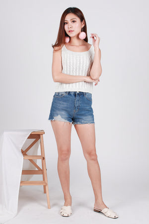 Olayne Knit Top In White