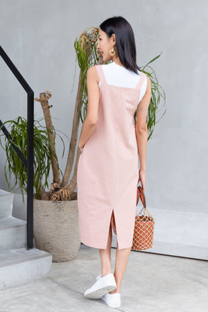 *BACKORDER* Brandi Dungaree Midi In Pink
