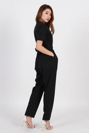 *TSA Label* Hudson Collared Jumpsuit In Black