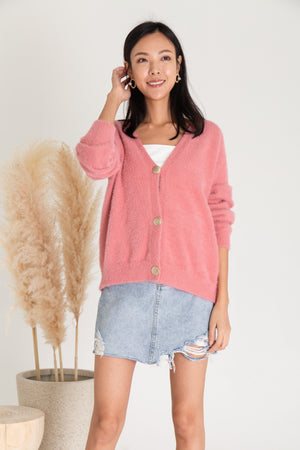 Laural Knit Cardigan In Pink