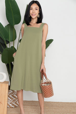 *RESTOCK* Farrah Tie Knot Midi Dress In Pistachio