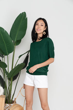 Elwood Basic Knit Top In Forest