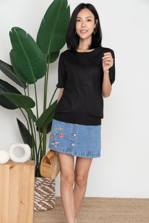 Elwood Basic Knit Top In Black