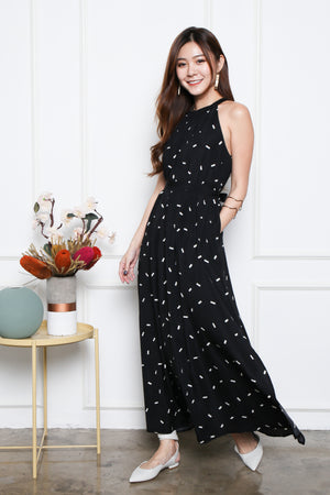 *RESTOCK* Kyloe Sprinkles Maxi Dress In Black