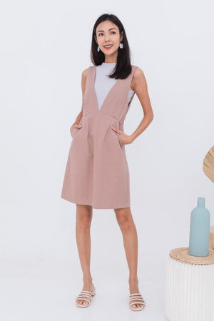 Josie Pinafore Dress In Pink