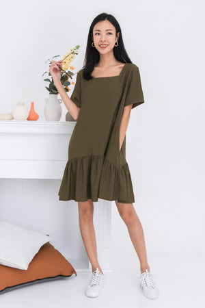 *BACKORDER* Taylia Dress Romper In Olive
