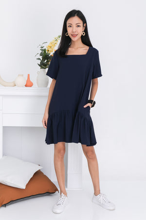 *BACKORDER* Taylia Dress Romper In Navy