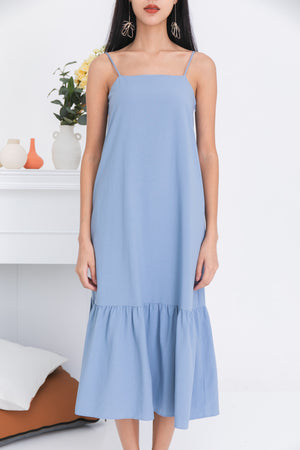 Jordyn Dropwaist Dress In Blue