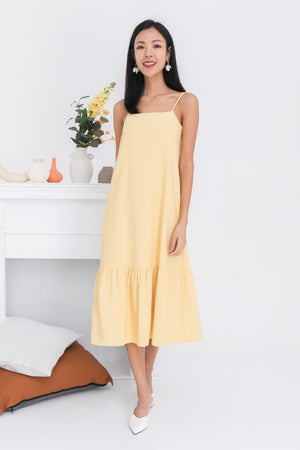 Jordyn Dropwaist Dress In Yellow