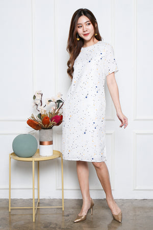 *BACKORDER* *TSA Label* Yander Midi Dress In White Terrazzo