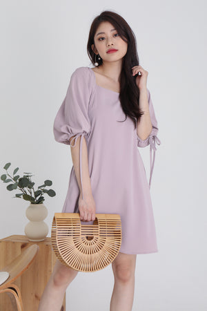 Sidney Tie Sleeve Dress In French Pink