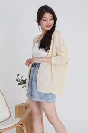 Jaymes Knit Cardigan In Ivory