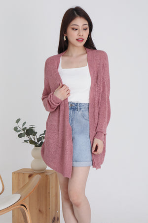 Jaymes Knit Cardigan In Rose