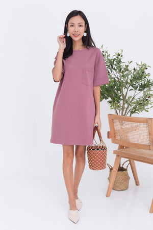 *BACKORDER* Allison Pocket Dress In Mauve