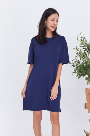 Allison Pocket Dress In Navy