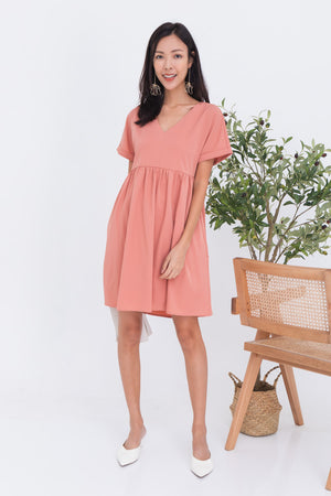 Callen Babydoll Dress In Pink