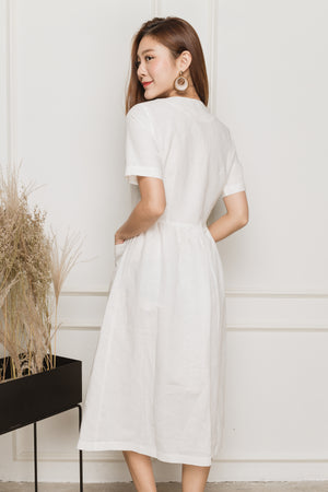 *TSA Label* Ananya Buttoned Midi In Off White