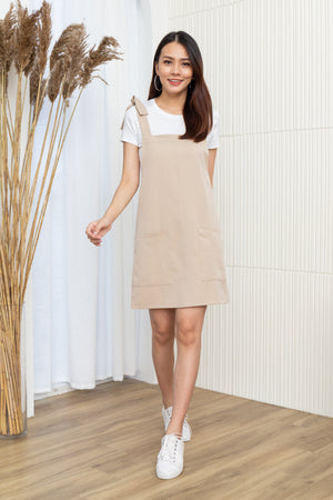 Alexy Tie Shoulder Dress In Ecru