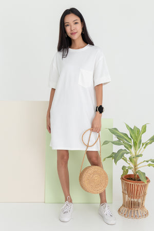 *BACKORDER* Allison Pocket Dress In White