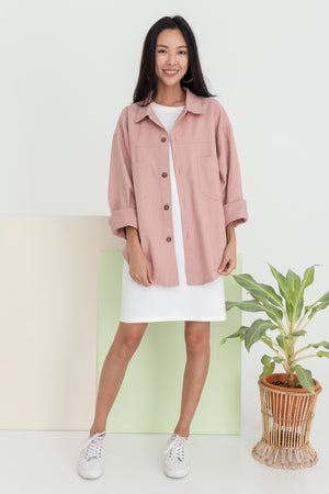 Harleen Boyfriend Jacket In Pink