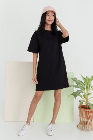 Allison Pocket Dress In Black