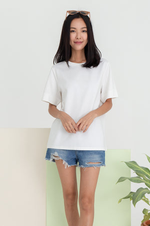 Adelaide Basic Tee Shirt In White