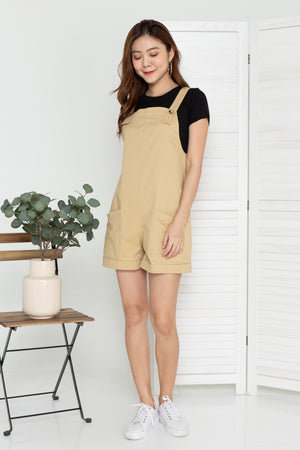 Barry Pinafore Dungaree In Khaki