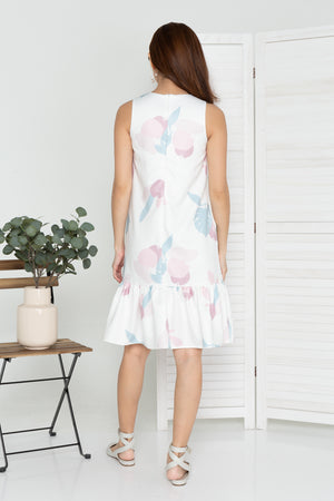 Marley Wild Fleur Dropwaist Dress In White