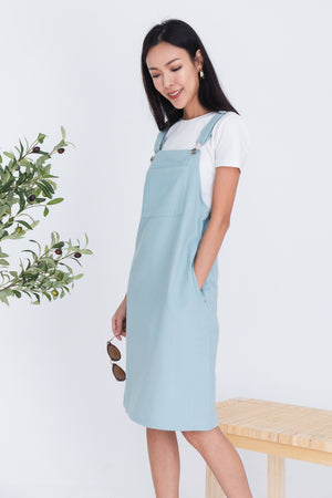 Lexie Dungaree Dress In Green