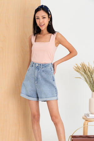 *RESTOCK* Billie Moms Denim Shorts In Light Wash