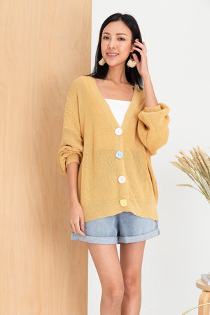 *BACKORDER* Kaori Knit Cardigan In Mellow Yellow
