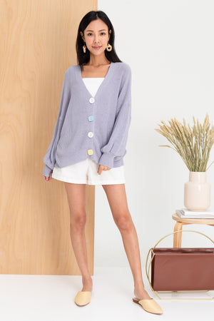*BACKORDER* Kaori Knit Cardigan In Lilac Blue