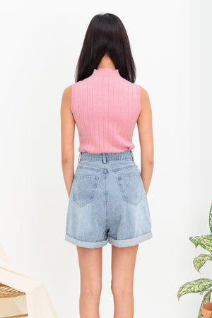 Emme Sleeveless Knit Top In Pink