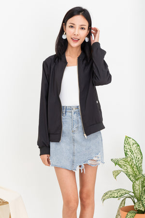 *BACKORDER* Woode Bomber Jacket In Black