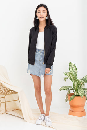 *RESTOCK* Woode Bomber Jacket In Black