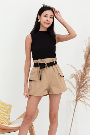 Raider Belted Utility Shorts In Camel