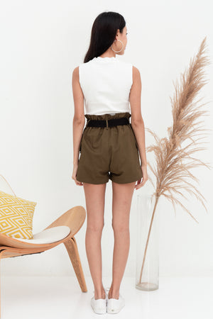 Raider Belted Utility Shorts In Olive
