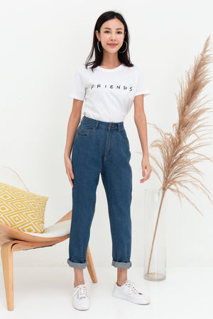 Eugenia Mom's Jeans In Mid Wash